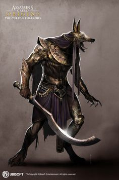 """Anubis Warrior Super"" by Satanasov ! Foto Fantasy, Dark Fantasy Art, Fantasy Character Design, Character Art, Tattoo Avant Bras, Egypt Concept Art, Anubis Tattoo, Assassins Creed Origins, Egypt Art"
