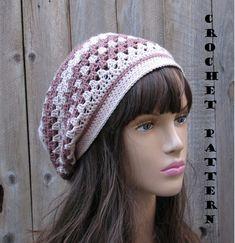 Crochet Pattern - Slouchy Spring Hat, Crochet Pattern PDF, Pattern No. 43