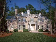 Staunton Hill Colonial Home  from houseplansandmore.com