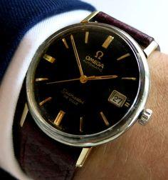 Omega Seamaster De Ville - black dial. Please click through for more information