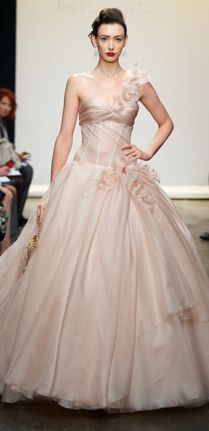 Ines Di Santo's blush-hued wedding gown makes for a total 'pretty in pink' moment!