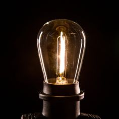 Our energy efficient LED 1 Watt base light bulb can be paired with any of our commercial grade light strings. Patio String Lights, Globe String Lights, Patio Lighting, Incandescent Bulbs, Energy Efficiency, Light Bulb, Commercial, Glow, Base