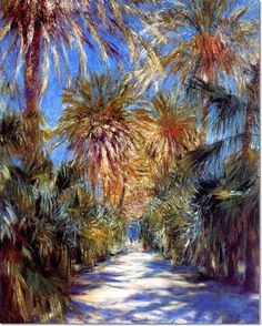 Pierre-Auguste Renoir French Impressionist Painting - Algiers the Garden of Essai, 1881