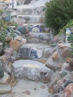 This is our garden stair case.