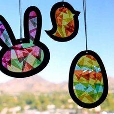 Fensterbilder für Ostern basteln mit Kindern – 35 tolle Ideen und Vorlagen