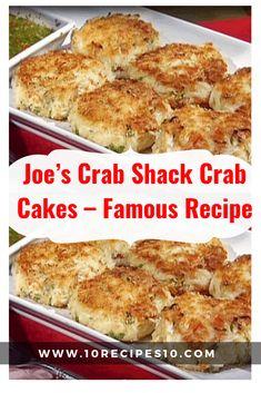 Joe's Crab Shack Crab Cakes – Famous Recipe – - Fish recipes and Seafood Recipes - French Crab Cake Recipes, Fish Recipes, Seafood Recipes, Crab Cakes Recipe Best, Homemade Crab Cakes, Game Recipes, Cajun Recipes, Ww Recipes, Healthy Recipes