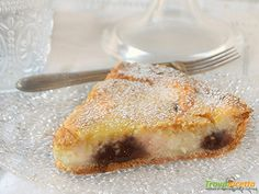 Crostata con ricotta mascarpone cioccolato profumata all'arancia  #ricette #food #recipes