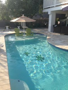 Add a sun shelf to your pool. Fantastic way to enjoy the pool without getting totally wet.