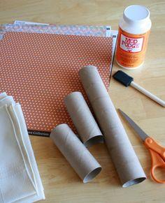 paper towel tube for base of napkin ring