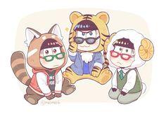 Osomatsu, Karamatsu & Choromatsu Manga, Osomatsu San Doujinshi, Laughing And Crying, Kawaii Chibi, Ichimatsu, Me Me Me Anime, Vocaloid, Art Projects, Anime Art
