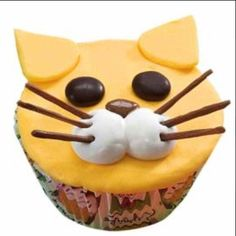 Frisky Feline Cupcakes - Put these cats out at the party and watch the fur fly! With candy features, the decorating is quick and easy—perfect for kids to make and eat! get some yourself some pawtastic adorable cat appare Deco Cupcake, Cupcake Day, Cupcake Cookies, Christophe Felder, Chocolate Candy Melts, Animal Cupcakes, Dog Cupcakes, Birthday Cupcakes, Pear Cake