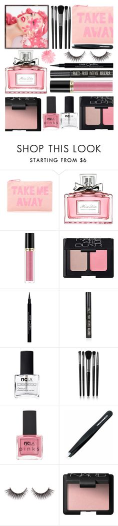 """""""Today"""" by rasa-j ❤ liked on Polyvore featuring beauty, Forever 21, Christian Dior, Revlon, NARS Cosmetics, Givenchy, Topshop, ncLA, Illamasqua and Tweezerman"""