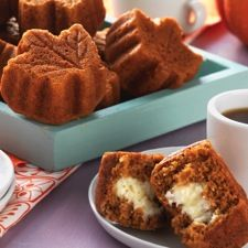 Inside-Out Pumpkin Muffins – moist, flavorful muffins with a baked-in cinnamon cream cheese filling. LIKE!