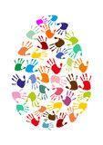 Vektor: Ei mit bunten Handabdrücke art projects for preschoolers Easter Activities, Montessori Activities, Infant Activities, Fun Activities, Easter Art, Easter Crafts, Easter Projects, Art For Kids, Crafts For Kids