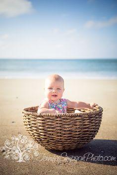 Baby in a Basket   Beach Photographer  Wilmington NC Photographer. So adorable.