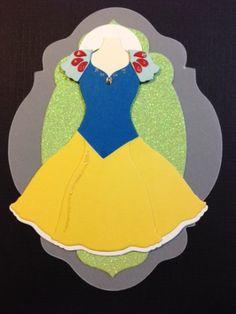 Snow White princess, dress framelit, card