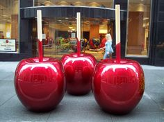 The Really Big Candy Apples - Celso street art - art installation - food art