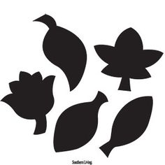 10 Easy Printable Pumpkin Carving Patterns | Fall Cluster Leaves Template | SouthernLiving.com