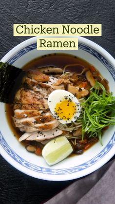Soup Recipes, Chicken Recipes, Dinner Recipes, Cooking Recipes, Asian Recipes, Healthy Recipes, Japanese Food Recipes, Comida Diy, Good Food