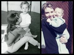 Audrey with sons Sean Ferrer and Luca Dotti
