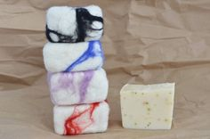 Large Felted Soap 5 ounces Organic Soap Tea Tree by redheadnblue