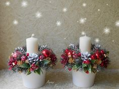 OK.RU Christmas Flower Arrangements, Christmas Flowers, Christmas Mom, Christmas Table Decorations, Christmas Candles, Christmas Projects, Christmas Ornaments, Xmas Wreaths, Ideas