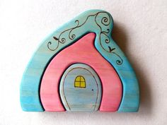 Wooden Fairy House Puzzle - by rawtoys on madeit