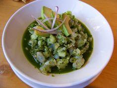 Ceviche verde de camarón en Erizo.   Community Post: 21 Platillos obligatorios para probar en Tijuana