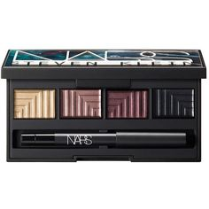 Nars Fantascene Dead of Summer Dual-Intensity Eyeshadow Palette (£32) ❤ liked on Polyvore featuring beauty products, makeup, eye makeup, eyeshadow, no color, nars cosmetics, palette eyeshadow, summer eye makeup and summer eyeshadow