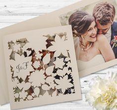 Papeterie zur Hochzeit - Karten mit Lasercut online gestalten.