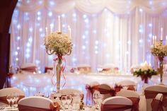 Reception Table Decor Baby's Breath
