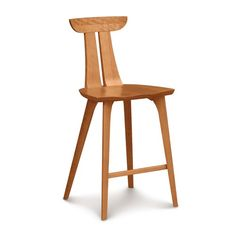 Estelle Counter Stool by Copeland Furniture - possibility for kitchen in walnut, but perhaps too much wood with potential to clash.