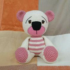 Amigurumi de Crochê Urso Ted | Mix Rô | Elo7