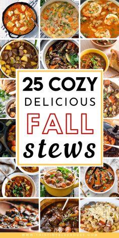 Slow Cooker Recipes, Crockpot Recipes, Soup Recipes, Delicious Recipes, Dinner Recipes, Cooking Recipes, Healthy Recipes, Autumn Stew Recipes, Recipes