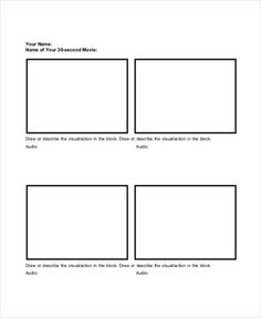 Basic Storyboard Template, example storyboard template