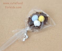 Chocolate Bird Nest on Spoon for Easter