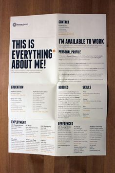 Great resume style, very very unique!! For more resume design inspirations click…