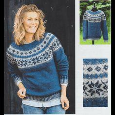 Opskrift på sweater med stjernebort i Håndværksgarn