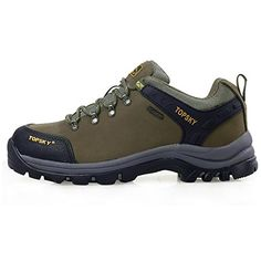 Topsky Unisex Outdoor Climbing Breathable Waterproof Hiking Trail Running Shoes 85 DM US Army green ** You can find more details by visiting the image link.