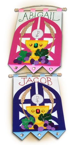 ~ ORIGINAL ~ First Communion Banner Kit - Class Pack - 9 in. x 12 in. - <i>Gates of Heaven</i>