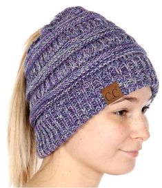 884e91a1e8b268 Wholesale Q09 C.C Multi color beanie tail Made in Korea Purple/Dark  denim/Beige