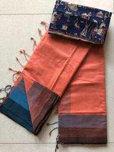 Mangalgiri handloom soft cotton saree comes with running blouse as well extra blouse as shown in the pic Cotton Sarees Handloom, Silk Saree Kanchipuram, Art Silk Sarees, New Blouse Designs, Saree Blouse Neck Designs, Saree Blouse Patterns, Cotton Saree Designs, Kurta Designs, Trendy Sarees