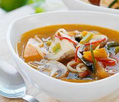 Thailändsk fiskgryta hot and sour Satte ingen koriander.  Min icke fiskätande son åt det här.
