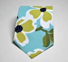 Mens Neckties Boys Necktie Me and Matilda Everyday Necktie Dogwood Blossom in Pond Blue on Etsy, $22.95