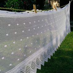 Tenda tendina mantovana bianco shabby chic vintage