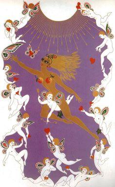"Original Vintage Erte Art Deco Print ""The Seasons Summer"" Art Deco Print, Art Prints, Art Nouveau, Erte Art, Romain De Tirtoff, Deco Paint, Inspiration Art, 23 November, Fashion Books"