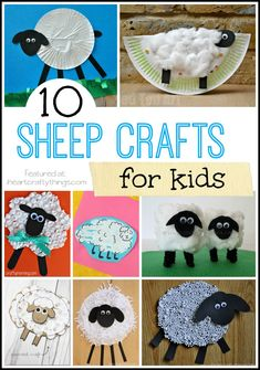 10 Sheep Crafts (from I Heart Crafty Things)