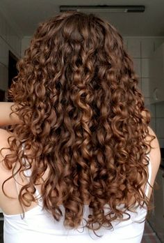 3a Curly Hair, Brown Curly Hair, Colored Curly Hair, Curly Hair Styles, Brown Curls, Hair Looks, Hair Lengths, Dyed Hair, Hair Inspiration