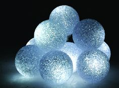 These soft decorative light balls all together makes for a cool party idea - use as a DIY centerpiece or table decoration. We have them with slow color change LEDs - beeeaUtiful & mesmerizing!: http://www.flashingblinkylights.com/soft-glow-orb-light-with-color-change-leds.html