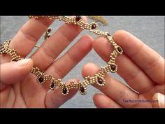 Beaded Braclets, Beaded Bracelets Tutorial, Necklace Tutorial, Beaded Anklets, Earring Tutorial, Crystal Bracelets, Beaded Jewelry Designs, Bead Jewellery, Handmade Jewelry